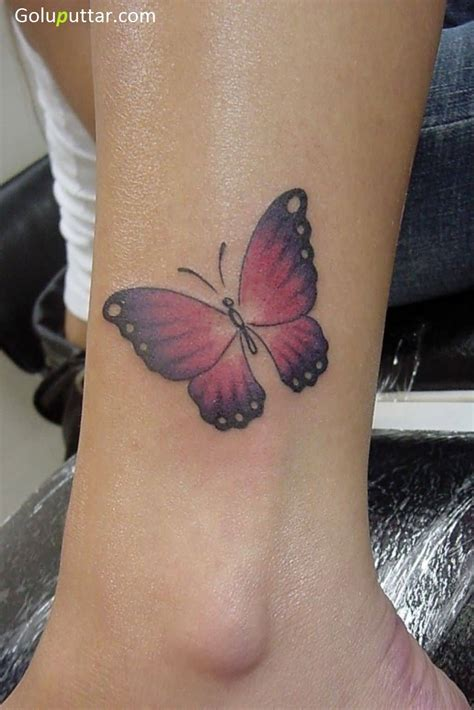 ankle butterfly tattoos