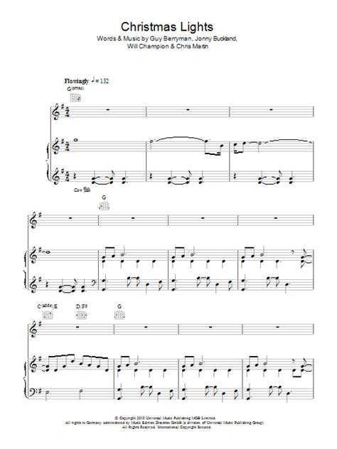 christmas lights sheet music direct