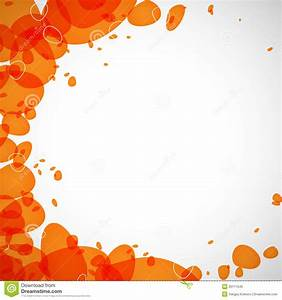 Colored Droplets Orange Royalty Free Stock Photo - Image ...