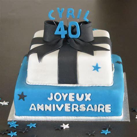 gateau anniversaire bébé 1 an g 226 teau anniversaire homme 40 ans bleu et blanc nœud noir