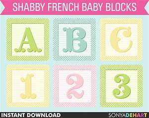 clipart picture of the alphabet in baby blocks With baby block letters