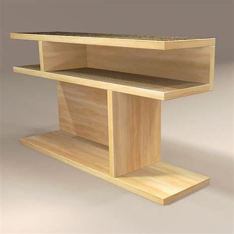 bookshelf end table west elm bookshelf side table 3d model formfonts 3d