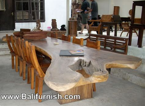 large dining table teak wood furniture from bali indonesia