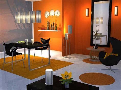 stunning orange paint theme interior paint color ideas