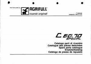 Agrifull 80 70 Special Service Parts Catalog Tractor