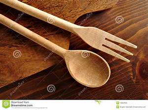 Wooden spoon and fork stock image. Image of utensil ...