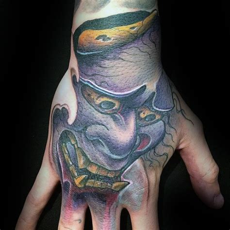 hannya mask tattoo designs  men japanese ink ideas