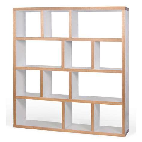 cuisine blanc et noyer etagère bibliothèque berlin 4 niveaux 150 cm blanc bois