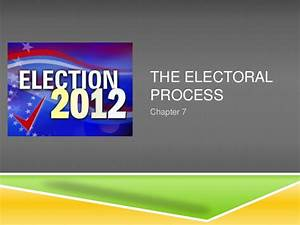 Chapter 7 the electoral process