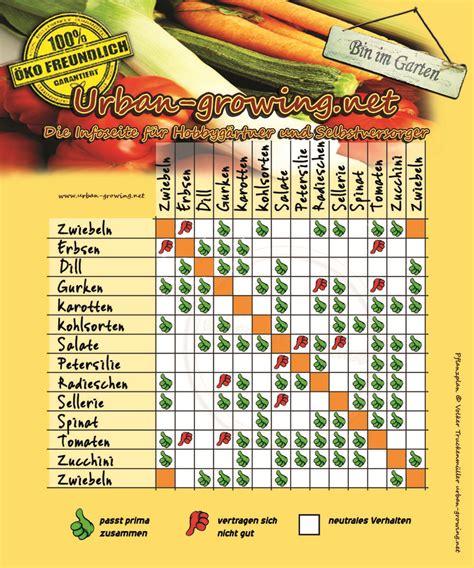 welche pflanzen vertragen sich tabelle pflanzplan welche gem 252 sesorten vertragen sich gut miteinander garten pflanzplan