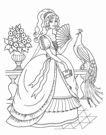Coloring Princess Peacock Pages Princesses