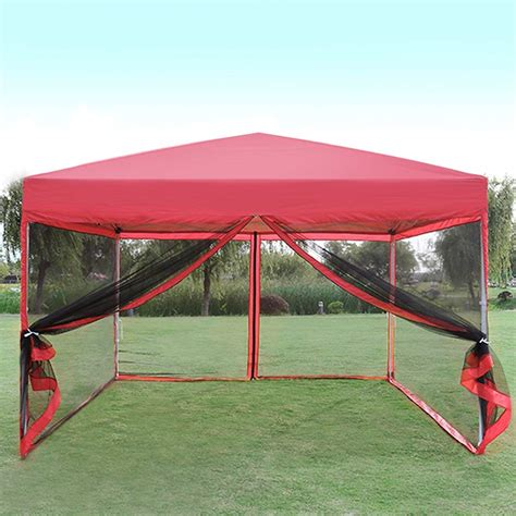 vivohome outdoor ez pop  canopy screen party tent