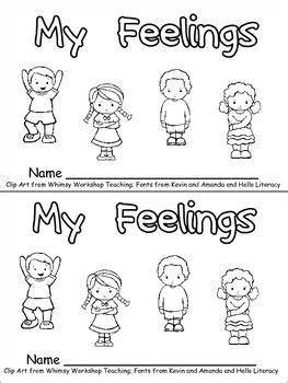 my feelings emergent reader for kindergarten all about