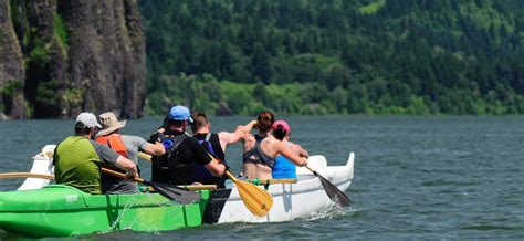 Rock The Boat Portland 2018 by Portland Oregon Outrigger Rooster Rock Race Mountain