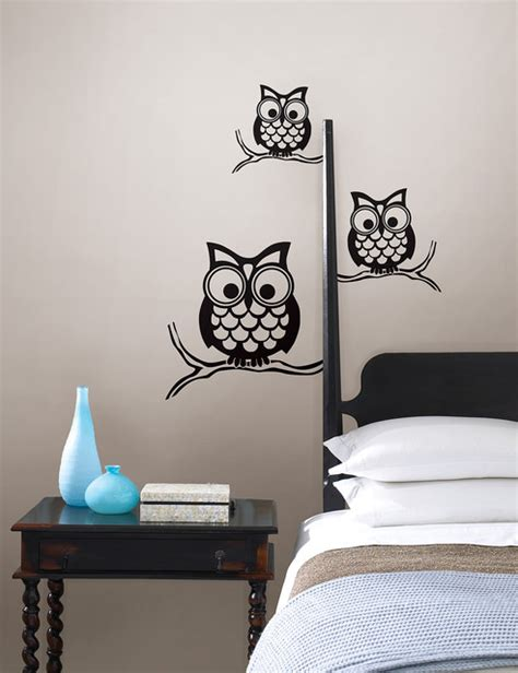 artwork for bedroom walls give a hoot wall owl wall by wallpops contemporary bedroom by wallpops