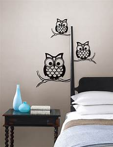 Give a hoot wall owl wall art by wallpops contemporary for Bedroom wall art