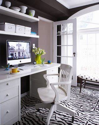 Zebra Rug Contemporary den/library/office