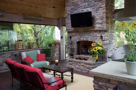 deck fireplaces eight deck remodels from mega decks mega