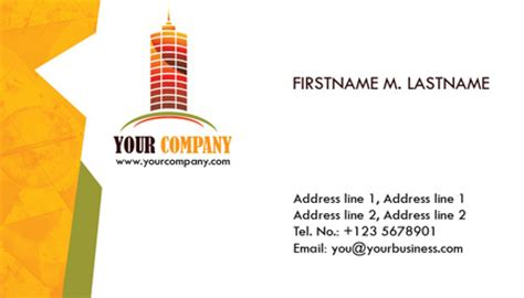 construction business cards psd models