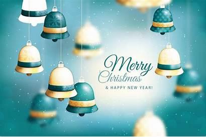 Merry Happy Christmas Backgrounds Bells Desktop Background