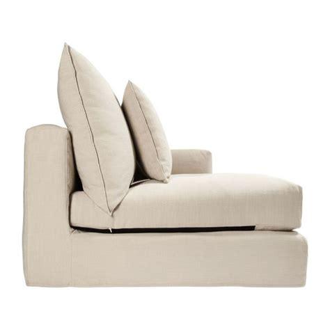 canapé droit tissu barington ii canapé 3 places accoudoir droit en tissu
