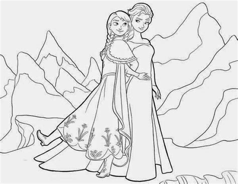 Frozen Anna And Elsa Coloring Pages - Eskayalitim