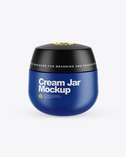We add new mockups every day. Matte Cream Jar PSD Mockup