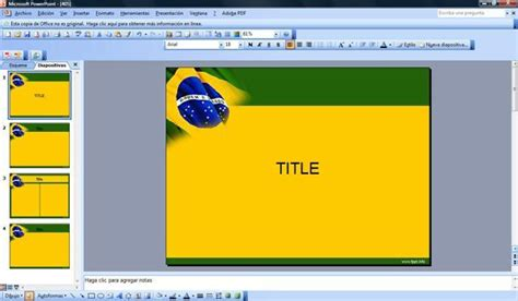 bandera de brasil plantilla  plantillas powerpoint gratis