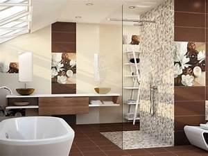 carrelage salle de bain beige et chocolat With salle de bain chocolat et beige
