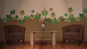 peinture au pochoir simulations natureles murs de pierre With pochoir a peindre sur mur
