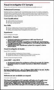 Investigator Resume Fraud Cv Sample