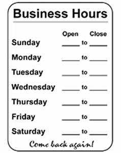 new hours in 2011 coffey county public library With hours of operation template microsoft word
