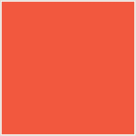 what color is a flamingo f2583e hex color rgb 242 88 62 flamingo