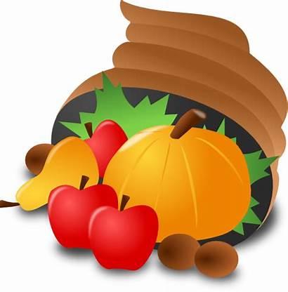 Thanksgiving Clip Clipart Icon Cornucopia Basket Pumpkin