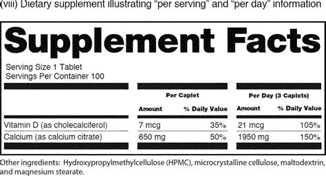 Nutrition Facts Label Blank Template