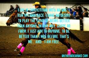Barrel Racing Quotes Cowgirl