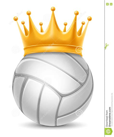 volleyball ball  crown stock vector illustration