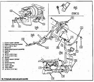 89 Ford Clutch Pedal Assembly