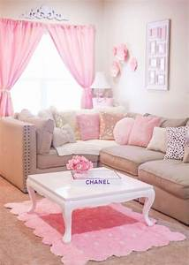 Rooms, Of, Inspiration, Pretty, Pink, Living, Room