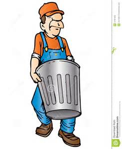 The Garbage Man Throwing Trash Clip Art