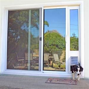 lowes patio doors with dog door With best sliding glass dog door