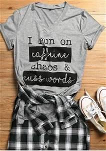Baseball Chart I Run On Caffeine Chaos Cuss Words T Shirt Fairyseason