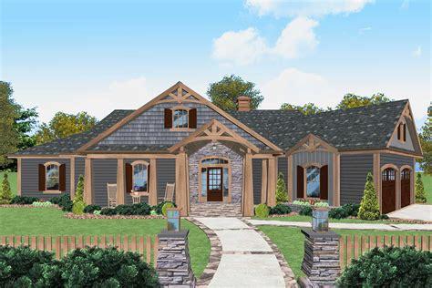 level craftsman house plan  wide  porch ga architectural designs house plans