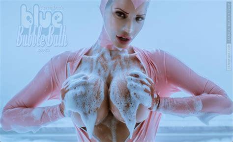 A Rubber Doll S Blue Bubble Bath Bianca Beauchamp Latex