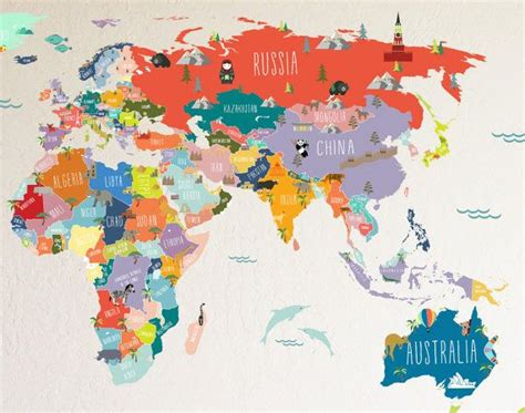 Best + World Map Wall Ideas On Pinterest