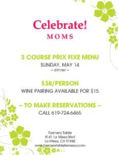 farmer s table la mesa menu celebrate moms with special menu may 14 at farmer s table