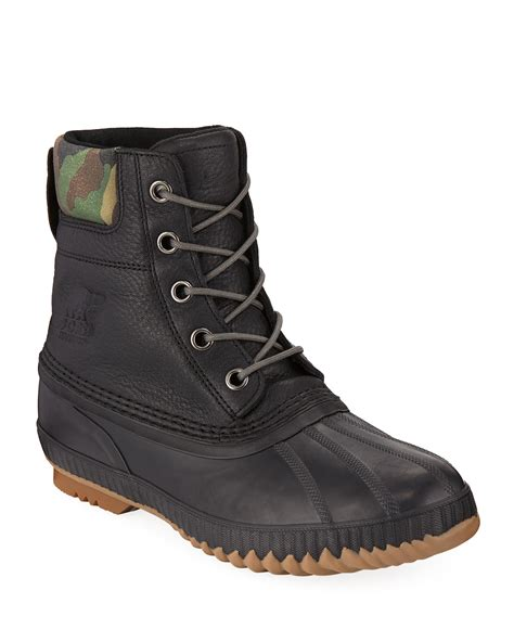 Sorel Men Cheyanne Premium Waterproof Short Leather