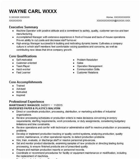 Tool And Die Maker Resume Format by Tool And Die Makers Resume Exles Manufacturing And