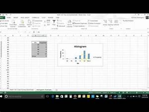 Make A Histogram Using Excel U0026 39 S Histogram Tool In The Data