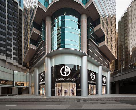 giorgio armani opens   boutique  hong kong  fashionisto